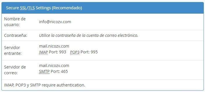 Configuración de mail en iPhone 1